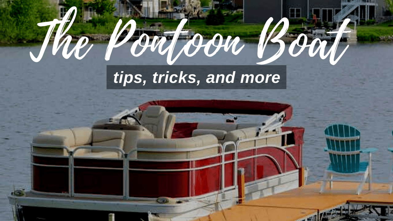 A beautiful pontoon boat on a lake in Central Florida
